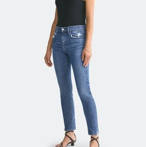 AGOLDE Toni Mid Rise Ankle Cut Straight Fit Jeans